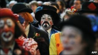 Clowns at Joseph Grimaldi memorial service in 2011