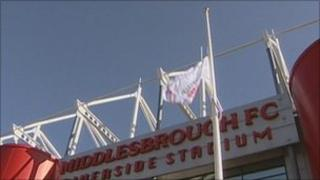 The city status flag is raised at the Riverside ground
