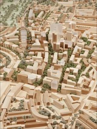 A model of the Earls Court development