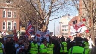 EDL protest in Reading