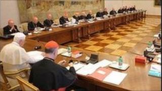irish bishops meet pope benedict