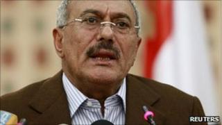 File photo of Yemeni President Ali Abdullah Saleh, 18 March 2011