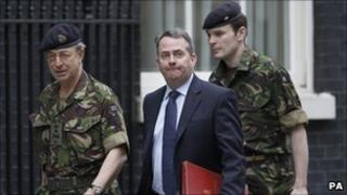 Defence Secretary Liam Fox with Chief of the Defence Staff General David Richards