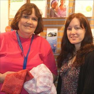 Volunteer Iona Roberts and co-ordinator Samantha Fairclough