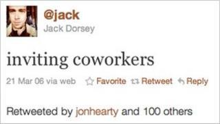 The first Tweet, Twitter
