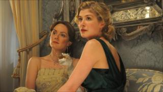 Rachael Stirling and Rosamund Pike