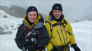 Richard and Malcolm Walker training in the Alps for their Everest challenge