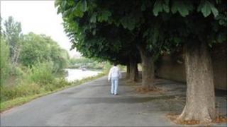 River Severn at Diglis, Worcester