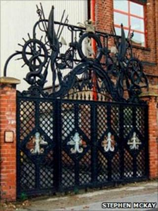 The Henry Pooley Gates in Smethwick