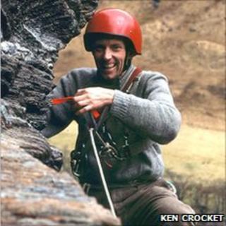 Douglas Lang on Heatwave, Poldubh Crags, Glen Nevis. Pic: Ken Crocket