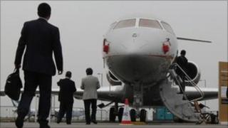 private jet at air show (file photo)
