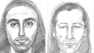 Artist's impressions of attack suspects