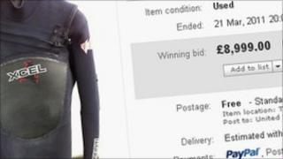 Daniel Morgan initially set out to auction off a second hand wetsuit