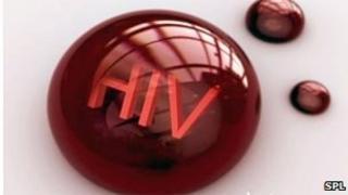 HIV contaminated blood