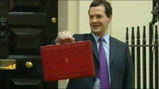 Chancellor George Osborne leaving for his Budget speech