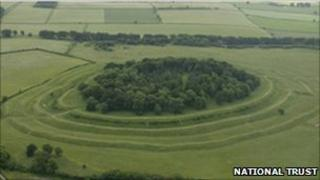 Badbury Rings. Copyright of the National Trust.