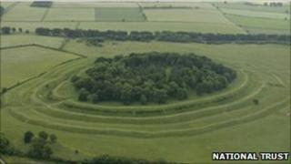 Badbury Rings. Copyright of the National Trust.