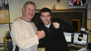 Steve Ward with BBC Radio Derby's Colin Bloomfield