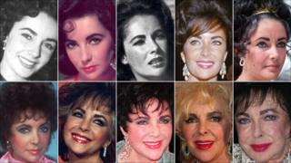 Elizabeth Taylor through the years