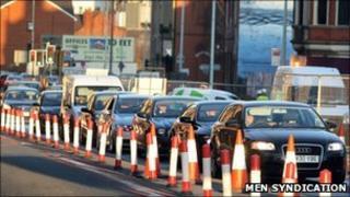 Traffic in Salford