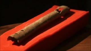 Bone penny whistle