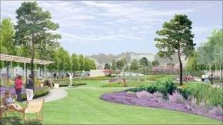 Plans for the St Helier Town Park