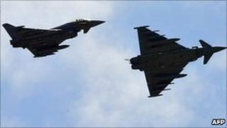 Italian Eurofighter jets (23 March)
