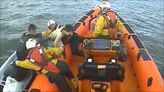 Watercraft rescue (pic courtesy of Sunderland RNLI)