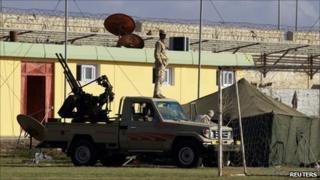 Col Gaddafi's compound