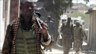 African Union Mission peace keepers in Mogadishu, Somalia