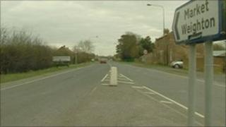 the A1079 in Market Weighton