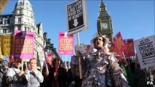 Students from across the country protest against a rise in tuition fees