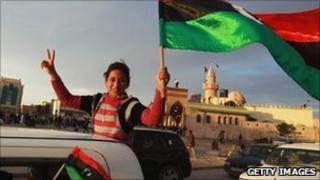 Libyan girl in Tobruk - 18 March 2011