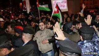 Anti-government protesters in Amman, Jordan - 24 March 2011