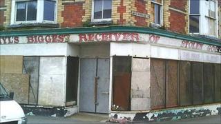 Rhyl shop sign