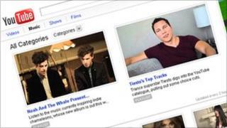 YouTube website