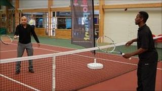 Indoor court at John Charles Centre for Sport