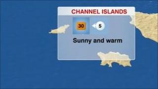 Jersey weather map