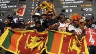 Sri Lanka cricket fans in Kandy