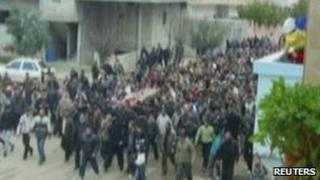 Funeral procession in Deraa - 24 March 2011