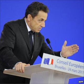 Sarkozy at the European Council