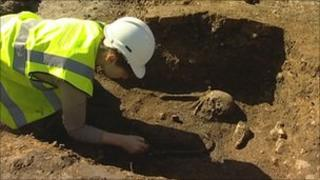 Canterbury burial ground dig