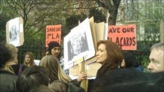 Save Our Placards stall in Hyde Park
