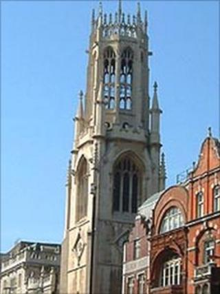 Tower of St Dunstan-in-the-West church