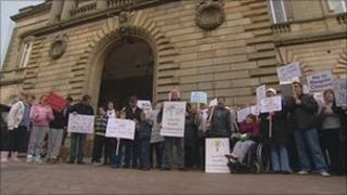 Protest in Accrington