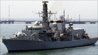 The British warship HMS St. Albans