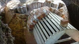Restoration work on ice house