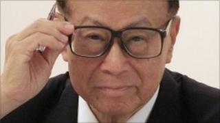 Billionaire chairman of Hutchison Whampoa Li Ka-shing