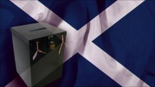 Scottish ballot box graphic