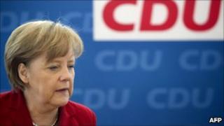 German Chancellor Angela Merkel in Berlin (28 March 2011)